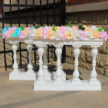 4pcs/lot Plastic Roman Column Fashion Wedding Props Decorative Columns White Color Pillars Road Cited Party Event