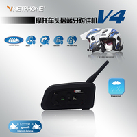 4 Riders 1200m FM Full Duplex BT Bluetooth Motorcycle Helmet Intercom Noise Cancelling Interphone Headset Free Shipping!!