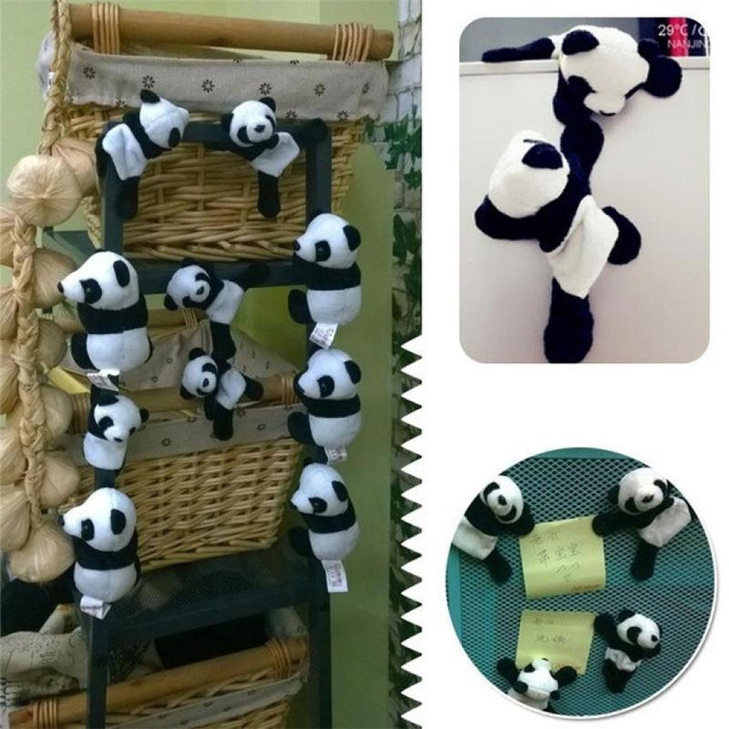 1 pc sveglio morbido peluche del panda fridge magnet frigorifero
