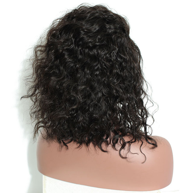 "8-24"" Wavy Human Hair Wig with Baby Hair"
