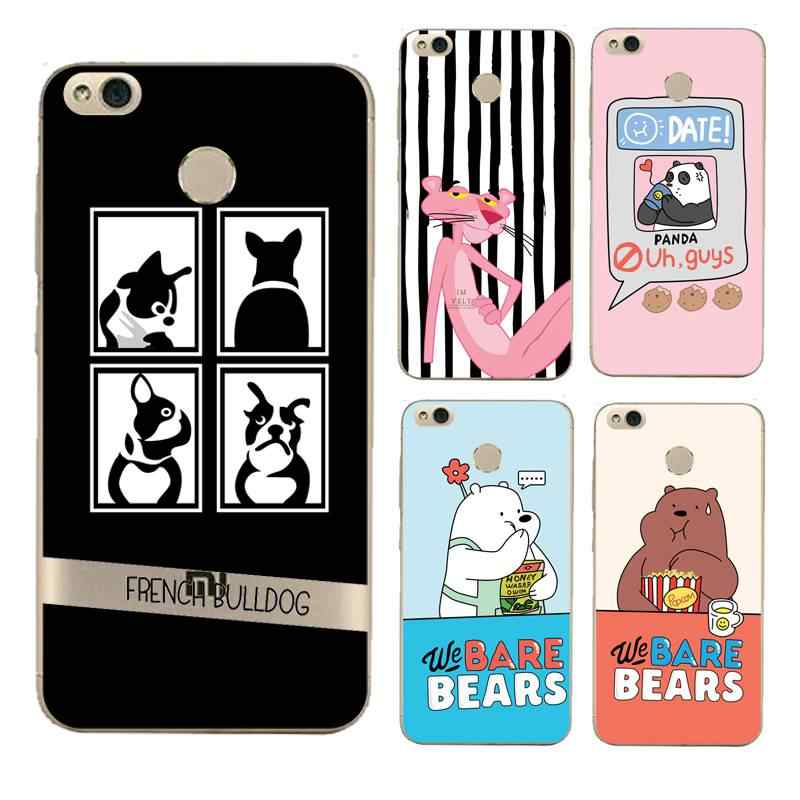 דוב רך נקה TPU מקרה טלפון xiaomi redmi 4x note5a 4a note4x 5S 5S mi6 note3 Coque מודפסת מעטפת שקיות פנדה משלוח חינם