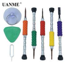 Uanme 8 шт 1 комплект Инструменты для ремонта открывания телефона