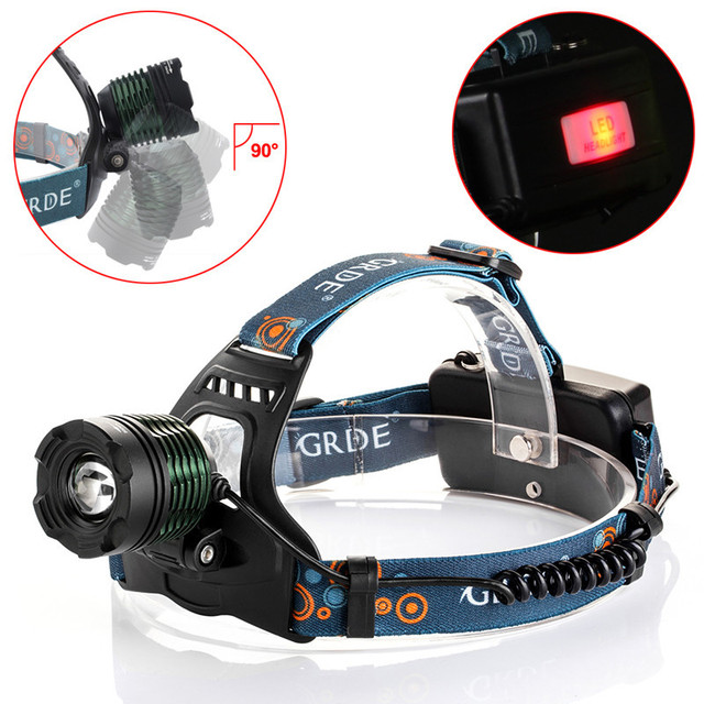 LED T6 Headlamp headlight Head lights headlamps 10W Rechargeable Linternas Lampe Torch Head lamp