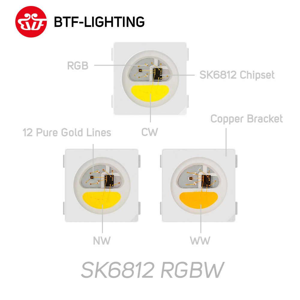 Toptan SK6812 RGBW (benzer WS2812B) DC5V 4 in 1 1m/4m/5m 30/60/144 leds/piksel/m bireysel adreslenebilir Led şerit IP30/65/67