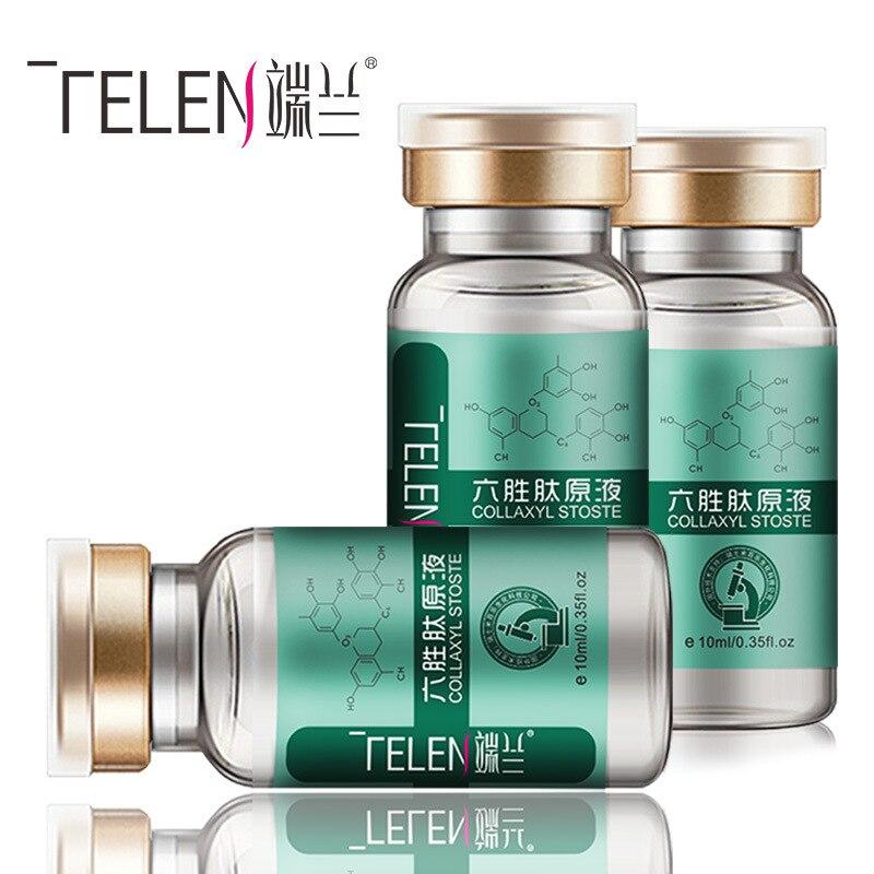 aa0386e4f TELEN Seis peptídeo líquido original de cuidados da pele é resistente a  rugas e anti-envelhecimento e anti-rugas Tyra firmando 10 ml * 3