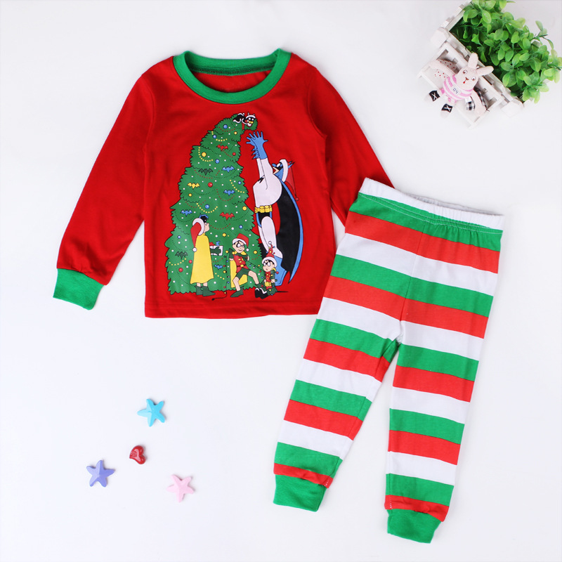 9a5281c12afc4 Kids Girls Christmas Pajamas Set Baby Girls Clothing Set 2 7 Years ...