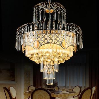 الحديثة بريقا K9 كريستال أضواء الثريا Led الثريات مصباح غرفة نوم غرفة الطعام فندق الأوروبية بسيطة ضوء