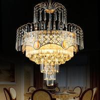 Modern Lustres K9 Crystal Chandelier Lighting Led Chandeliers Lamp Bedroom Dining Room Hotel European Simple Light