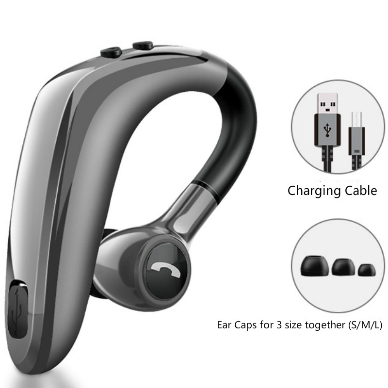 Image 3 - 2pcs Pack bluetooth headset 5.0 wireless earphone super long standby earpiece with Mic Sweatproof Noise Reduction hands free-in Bluetooth Earphones & Headphones from Consumer Electronics