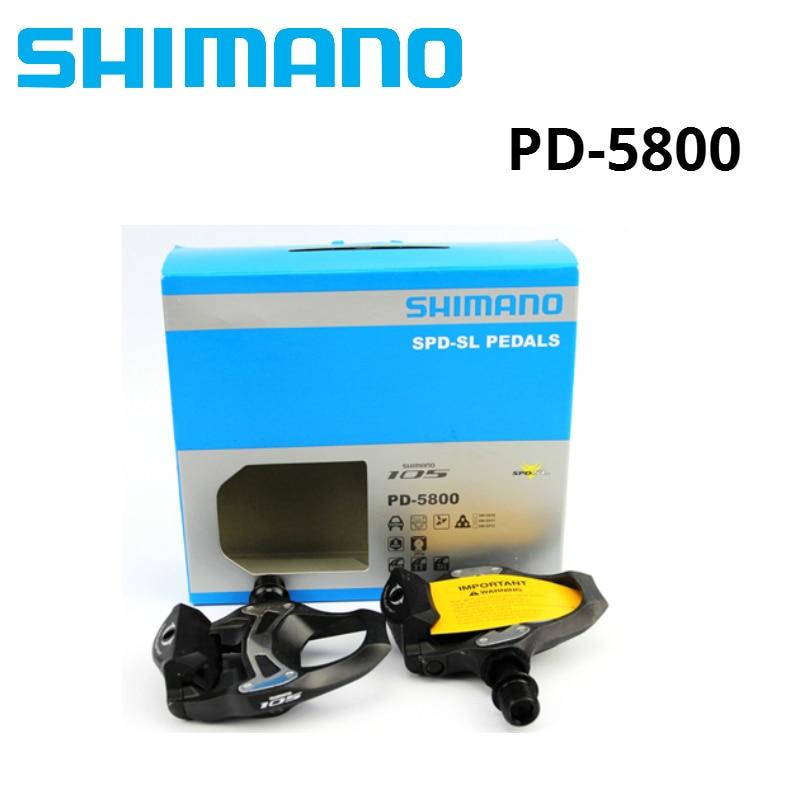 SHIMANO 105 PD 5800 Auto-Verrouillage SPD Pédales pour Vélo de Course Route Vélo Pédale avec SH11 Crampons