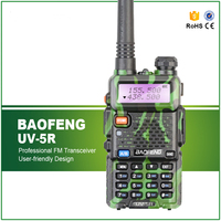 Camouflage Baofeng UV 5R Walkie Talkie 5W Two Way Radio Pofung UV 5R 128CH UHF VHF