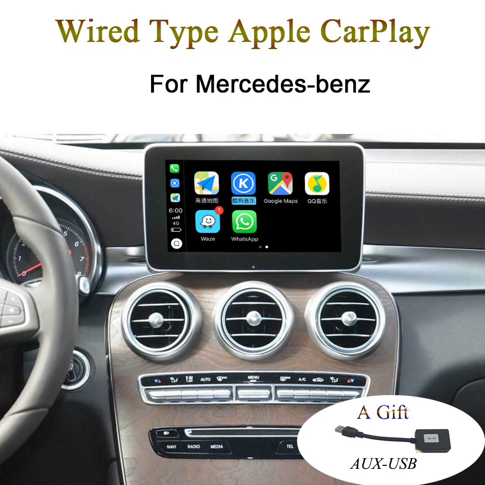 New Car Wire Type Apple CarPlay Video Interface for Mercedes-benz A B C GLC CLA GLA GLS Class Support Waze Map Phone CallNew Car Wire Type Apple CarPlay Video Interface for Mercedes-benz A B C GLC CLA GLA GLS Class Support Waze Map Phone Call