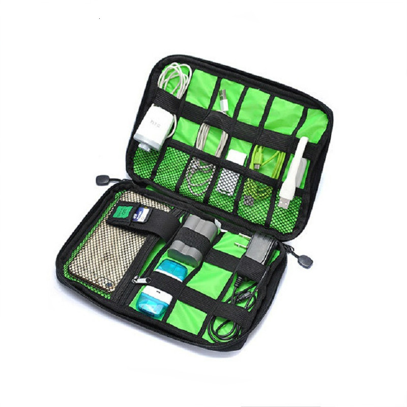 Electronic Accessories Travel Bag Nylon Mens Travel Organizer For Date Line SD Card USB Cable Digital Device Bag
