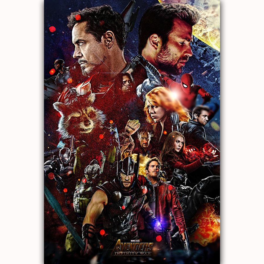 MQ3441 Avengers Infinity War 2018 DC Marvel Movie Iron Man