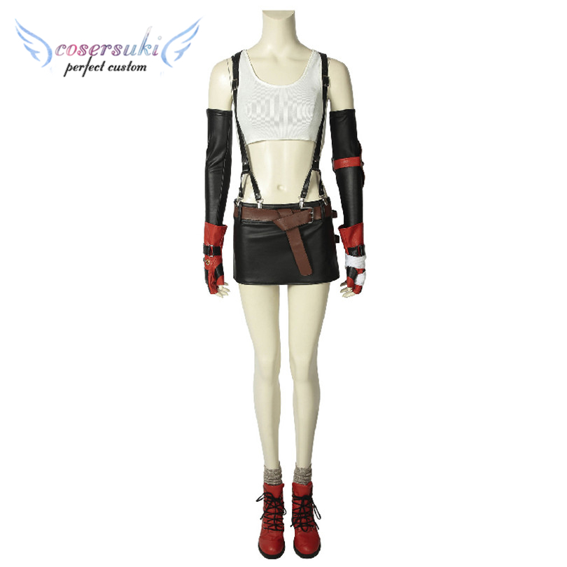 FINAL FANTASY VII FFVII FF7 Tifa Lockhart Costume Halloween Christmas Cosplay Costume Perfect Custom for You