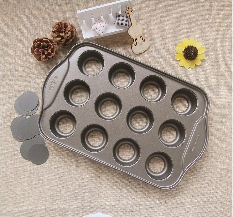 12 Tasses Muffin Moule Baisse Fond Gâteau Moule DIY Moule De Cuisson Pan Au Fromage Avec Boîte de Couleur dans   de