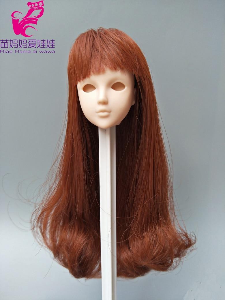 12.5 -14cm head circle doll hair for barbie doll repair diy BJD 1/12 Doll Wig Hair 1 3 1 4 1 6 1 8 1 12 bjd wigs fashion light gray fur wig bjd sd short wig for diy dollfie