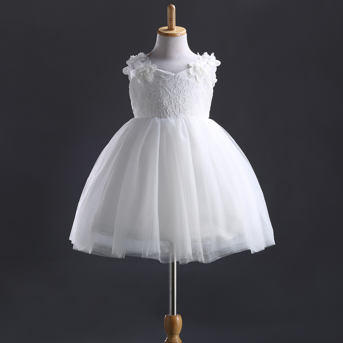 1df1afc455ea Hi Hi Baby Store Chic Lace Flower Girl Princess Party Bow Wedding ...
