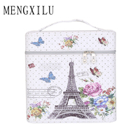MENGXILU New Cosmetic Box 2018 Female Cosmetic Bag Women S Large Capacity Storage Handbag Bow Travel