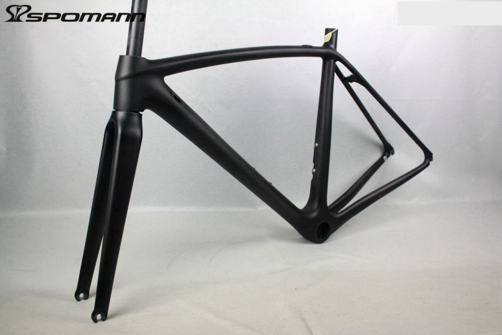 Super-light Carbon Bike Road Frame 2017 Cycling Bicycle Frameset OEM Chinese Road Bike Frame Internal Cable Accessories