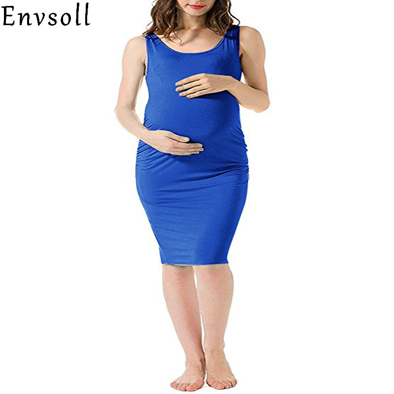 Envsoll 2018 Summer Maternity Dresses Sleeveless Sexy Loose One-piece Pregnant Dress Maternity Clothes For Pregnant Women Dress