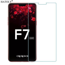 2PCS OPPO F7 Tempered Glass Screen Protector Film F 7Anti-brust HATOLY