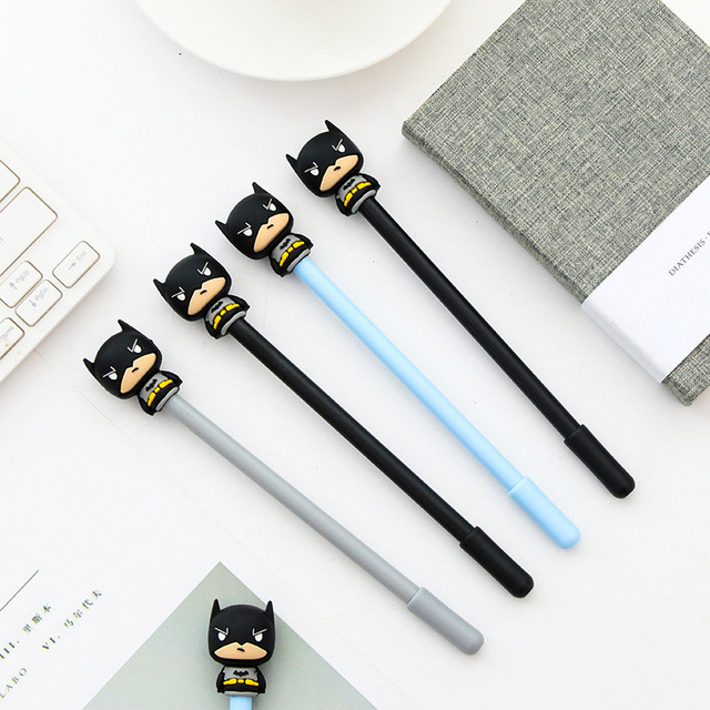 0 5mm Marvel Superhero Alliance Batman Black Gel Ink Pen Cute Cartoon Super Heros Signature