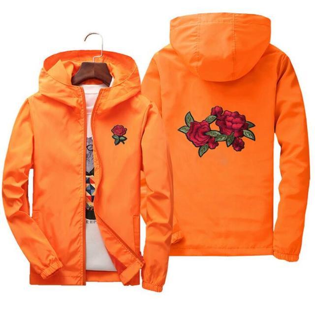 men women jacket windbreaker rose jackets