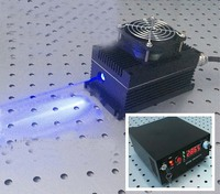 5000mW 445nm blue laser system with digital screen and adjustable switched power supply