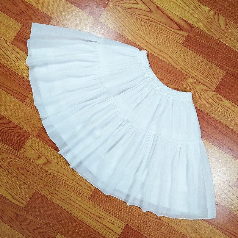 Image 4 - Lolita Chiffon Cosplay Petticoat Underskirt Short Women Black Petticoat Wedding Accessories 2018Petticoats   -