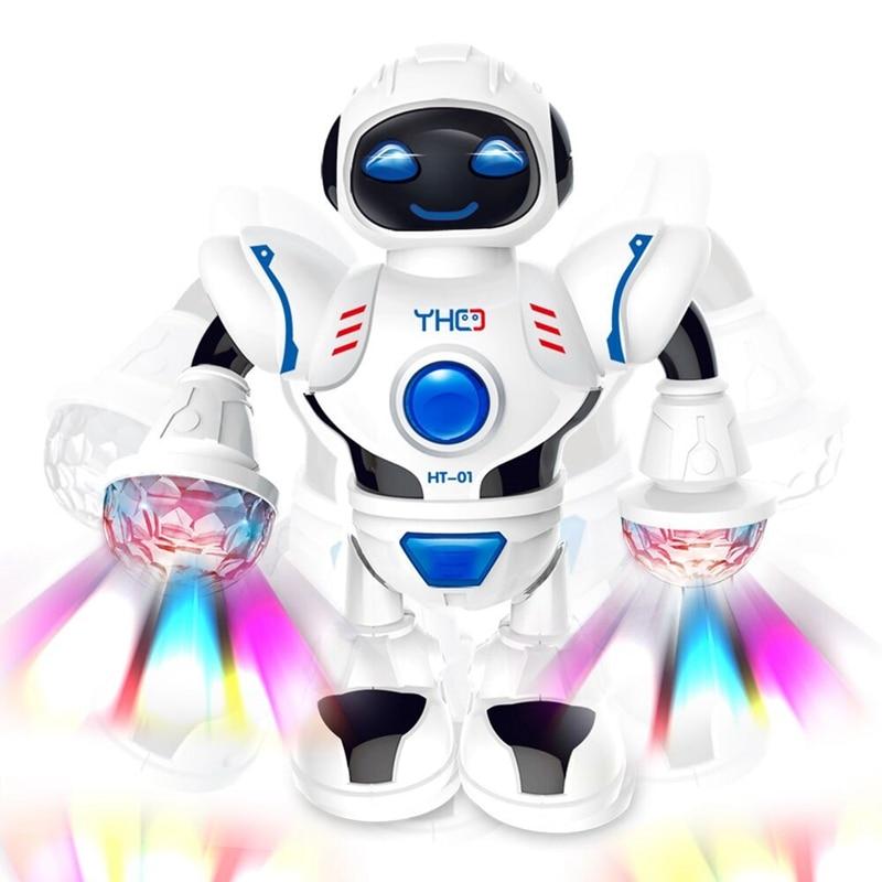 Smart Mini Robot Fun Robot Dancing Robot Toy Led Light Music Hyun Dance Robot