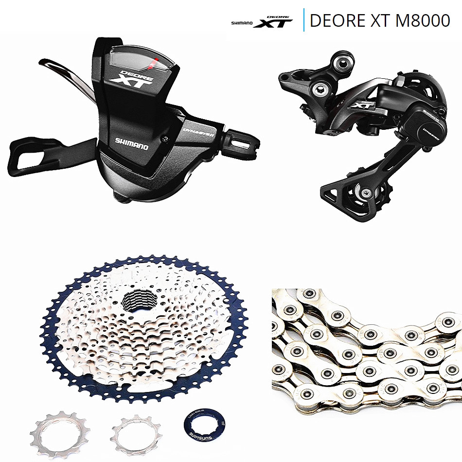 For XC AM FR DH MTB SHIMANO DEORE XT M8000 1x11 11S Speed SUNSHINE-42-46-50T Transmission Combination sales fit xc am fr dh mtb shimano slx m7000 1x11 11s speed 11 40 42 46t sunshin 40 50t mountain bike drive system shimano