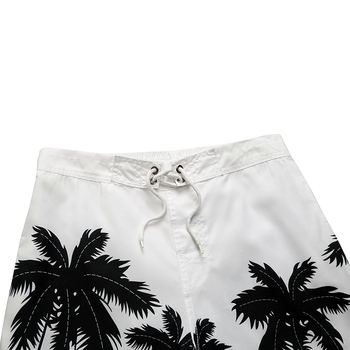 Fashion men beach shorts New 2018 brand boardshort shorts homme quick drying printing coconut trees board beach pants M-2XL 1