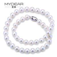 MYDEAR Cheap 9 10mm Potato Freshwater Natural Pearl Strand Perle Freshwater Pearl Necklace