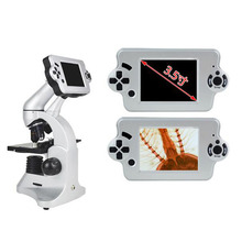 "Big sale 40X-2560X LCD Microscope 3.5"" LCD Screen Digital Biological Microscope Top LED and Bottom LED Metal Wide angle Eyepiece"