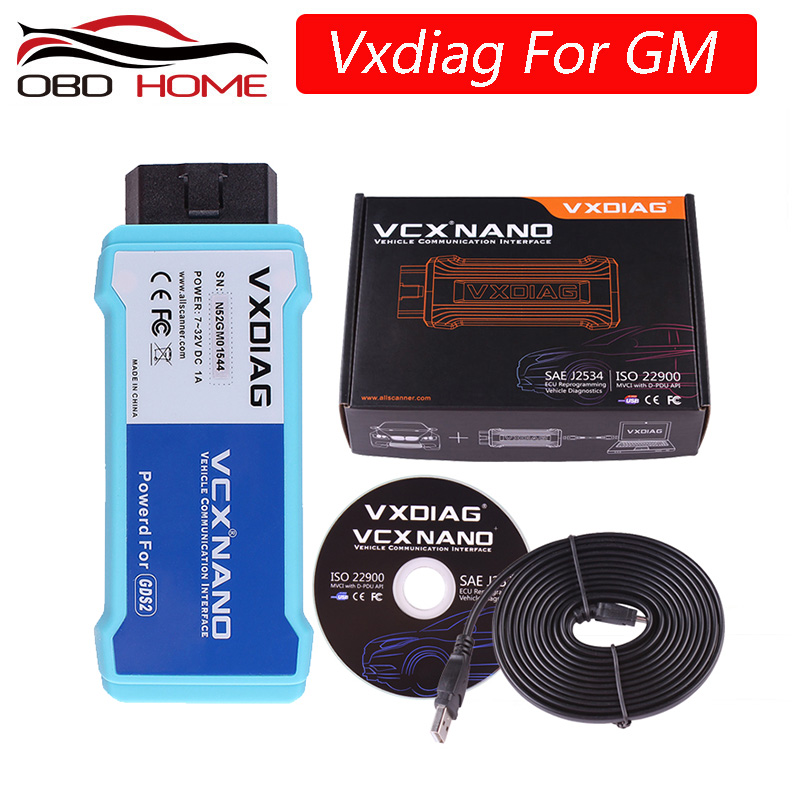 VXDIAG VCX NANO for GM/ for Opel GDS2 USB/Wifi Version Diagnostic Tool VXDIAG for GM Scanner Programming System best than MDI