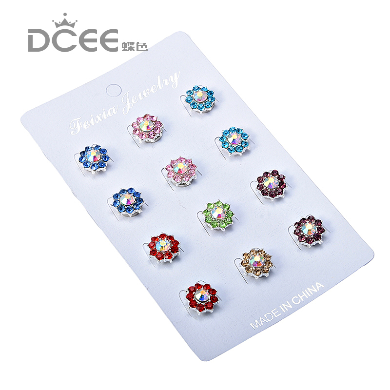 DCEE Magnet Hijab Pins flower Muslim Brooches Wholesale 12PCS Brooch Pin Muslim For Women Safety Scarf Pins Hijab