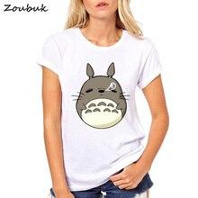 adf171b9 My Neighbor Totoro t shirt women Harajuku Kawaii Tshirt Miyazaki Hayao  comics tshirt funny camisas mujer