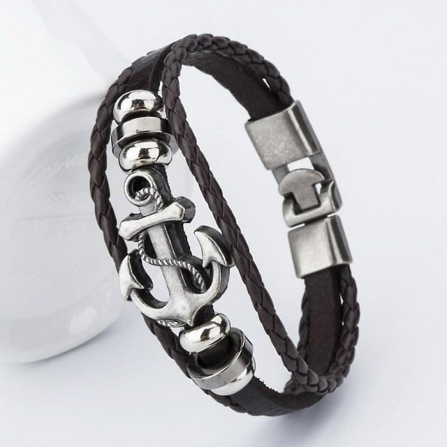 Anchor Charm Men's Bracelets (7 colors)