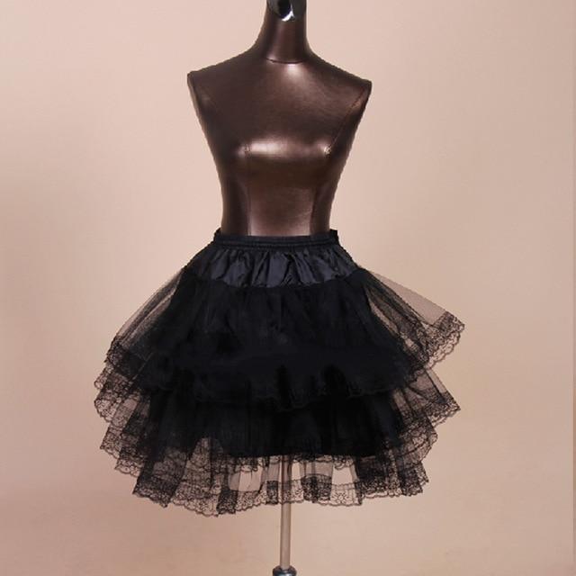 8f95d0bab0 De alta Calidad de Encaje Negro de Vestir Muchachas de La Boda Enagua  Enaguas Cortas