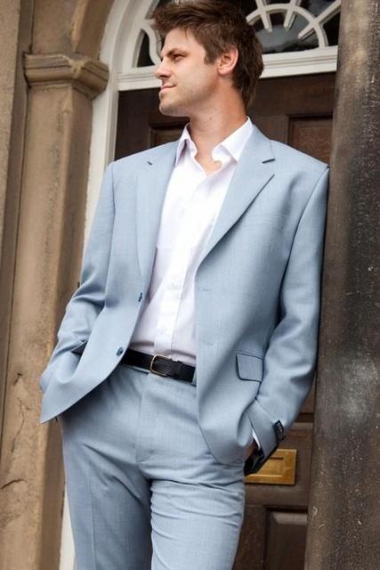 Por Encargo de Los Hombres Traje de Novio Clásico Esmoquin Blazer Hombres Prom Party Buiness Traje Esmoquin Del Novio (chaqueta + Pantalones) envío Gratis