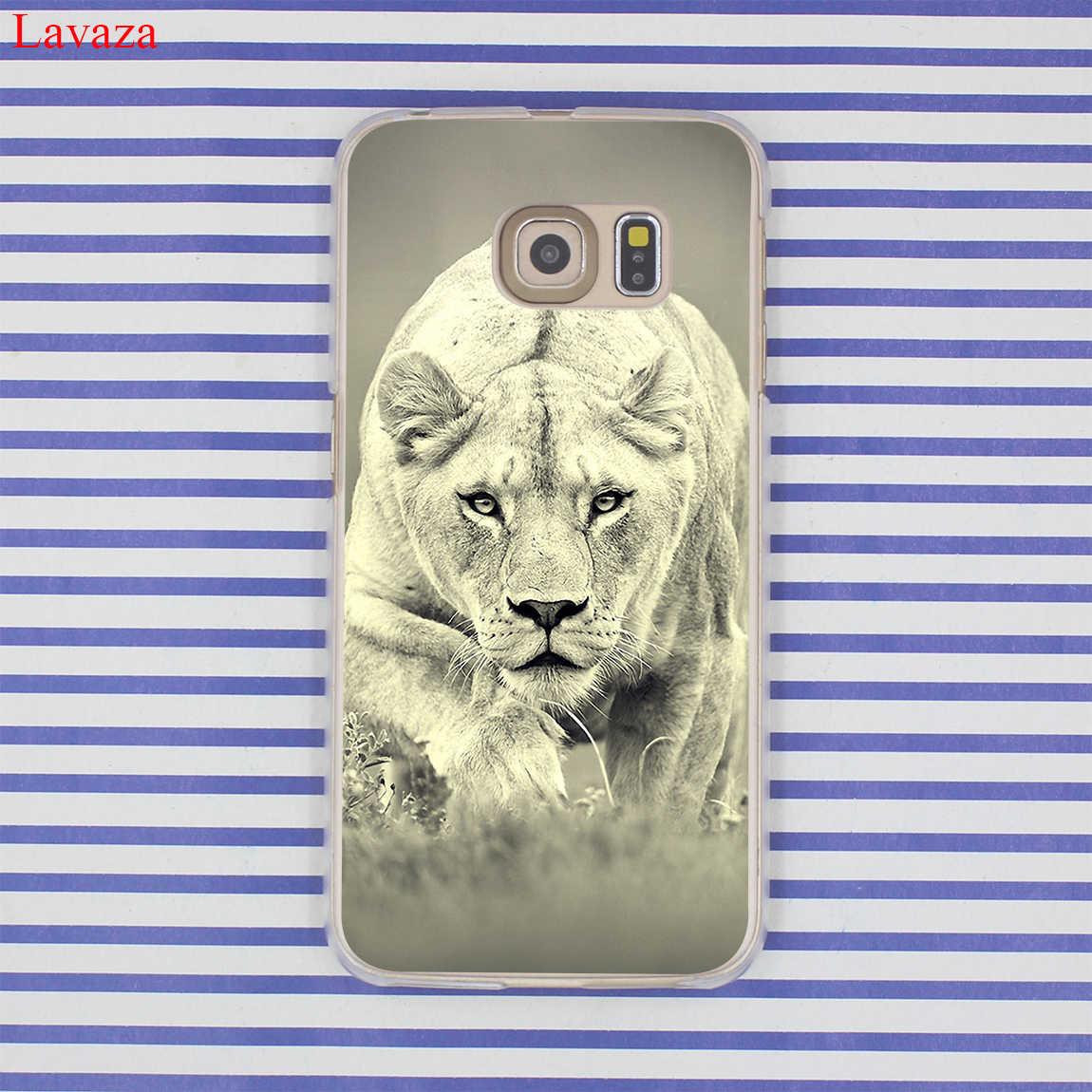 Lavaza 雪の動物ライオン虎目動物タイガースハードハード電話ケース S10 E S10E S8 S9 プラス S6 S7 エッジカバー