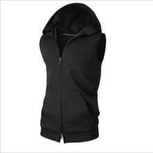 Hooded Men Sleeveless Hoody Fitness Clothes For Men Novelty Lothes Fo Rmen Brand-Clothing Tide Clothes Homens Moletom Sweatshirt
