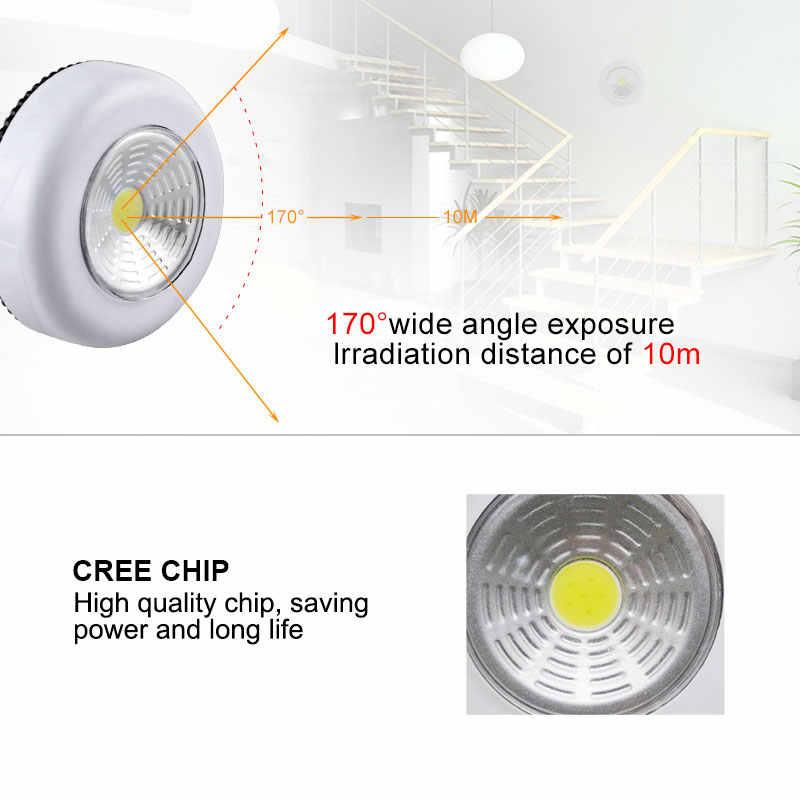 EeeToo Новинка Luminaria на батарейках светодиодный COB сенсорный свет шкаф для шкафа кухонное освещение детские ночные светильники подсветка для унитаза