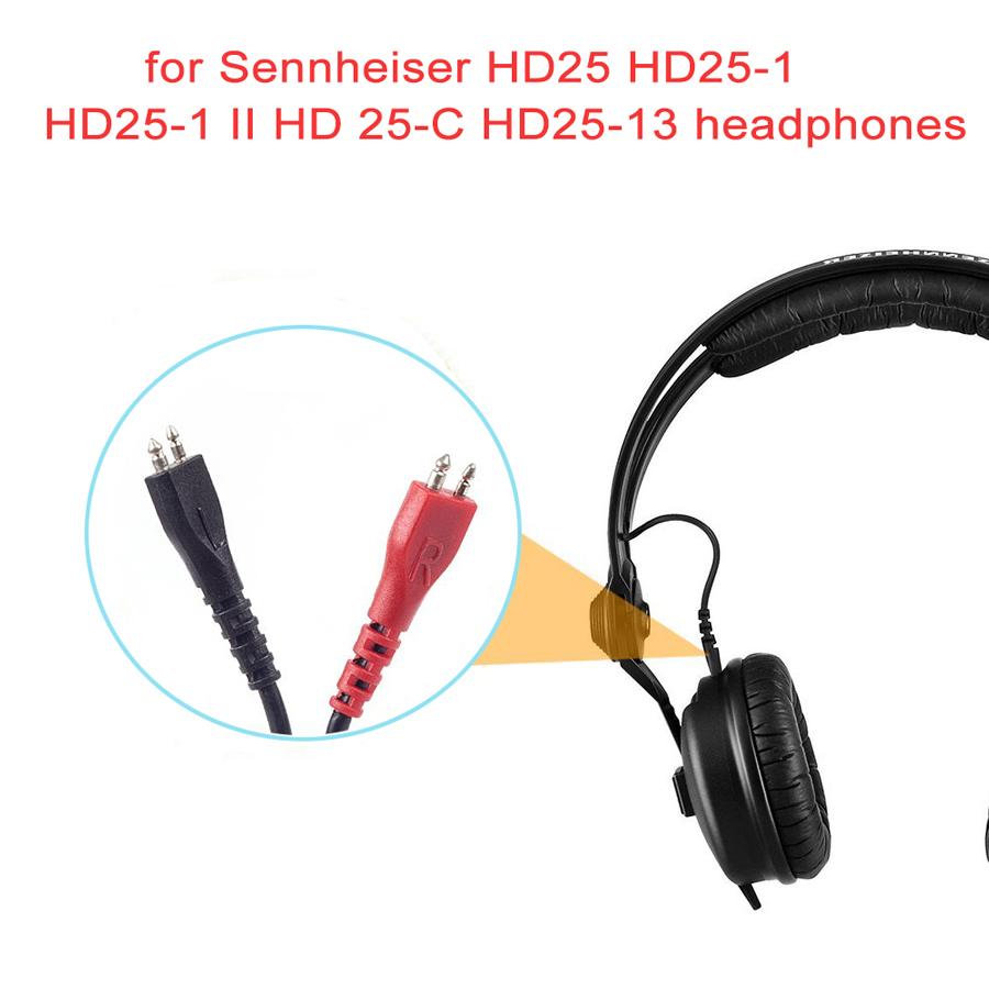 2.5M Kopfhörer Audio Kabel für Sennheiser HD25 HD25-1 HD25-1 II HD25-C HD25-13