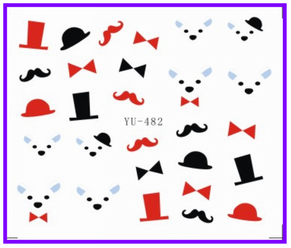 Stickers & Decals 1x Nail Art Water Transfers Stickers Nail Decals Stickers Water Decal Bear Cap Panda Cat Yu477-482 Beauty & Health