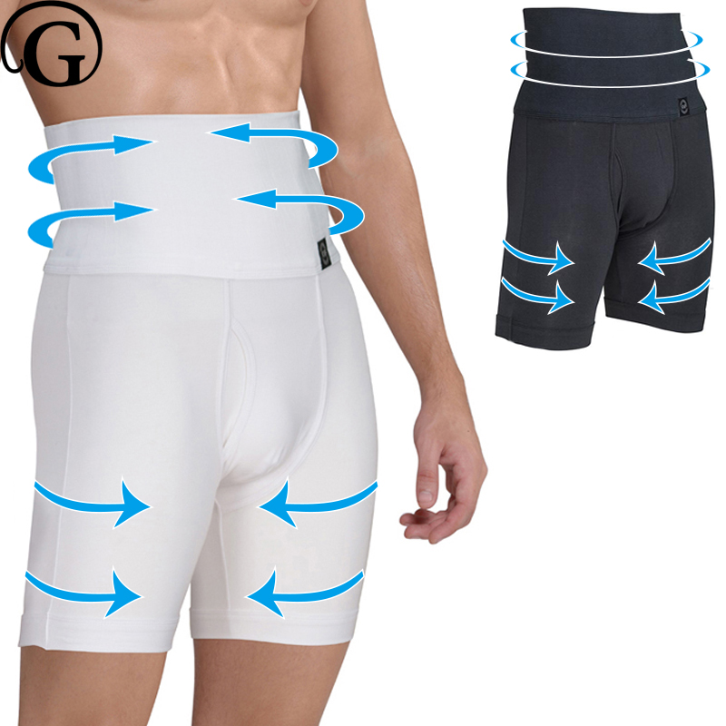 Men High Waist Tummy Control Boxer Brief