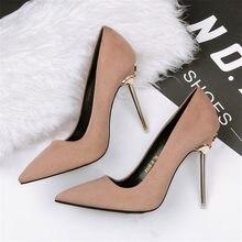 Chaussures à bouts pointus pour femme, escarpins à talons hauts, 6 couleurs concises, pour bureau, tenue de soirée, nouvelle collection automne 2021