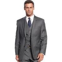 25af219481e40 New Custom Made Men Suits Dark Grey Tuxedo For Wedding Best Men Slim Fit 3  Pieces