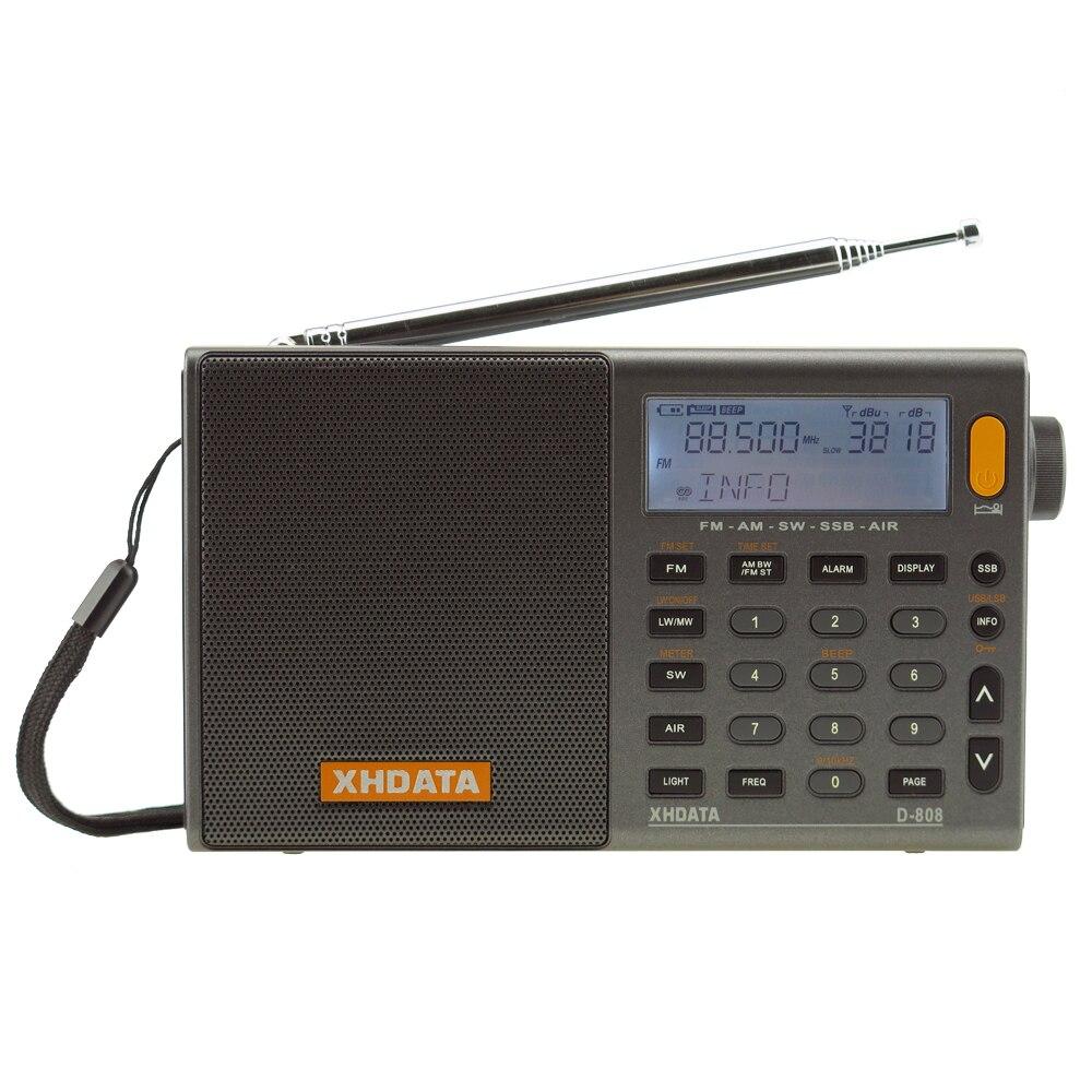 XHDATA D-808 Портативный цифровой радиоприемник FM стерео/SW/MW/LW SSB воздуха RDS Multi-Band
